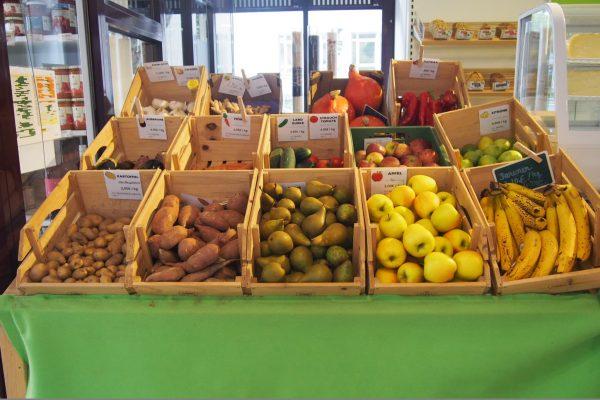 Einzelhandel zum Wohlfüllen Obst Gemüse