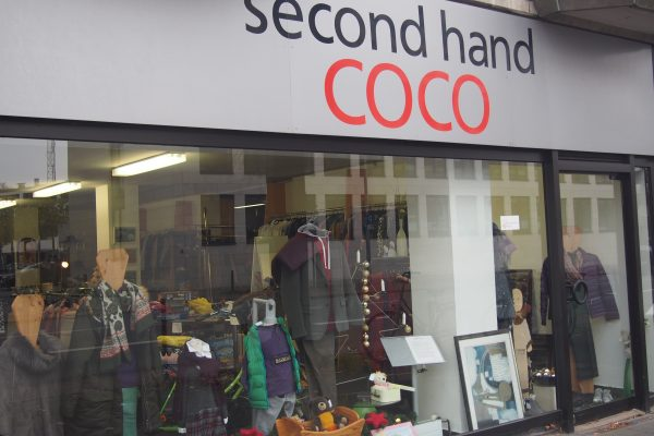 Coco Second Hand Schaufenster