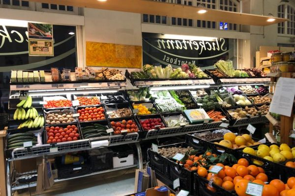 Slickertann Warenauslage Gemüse